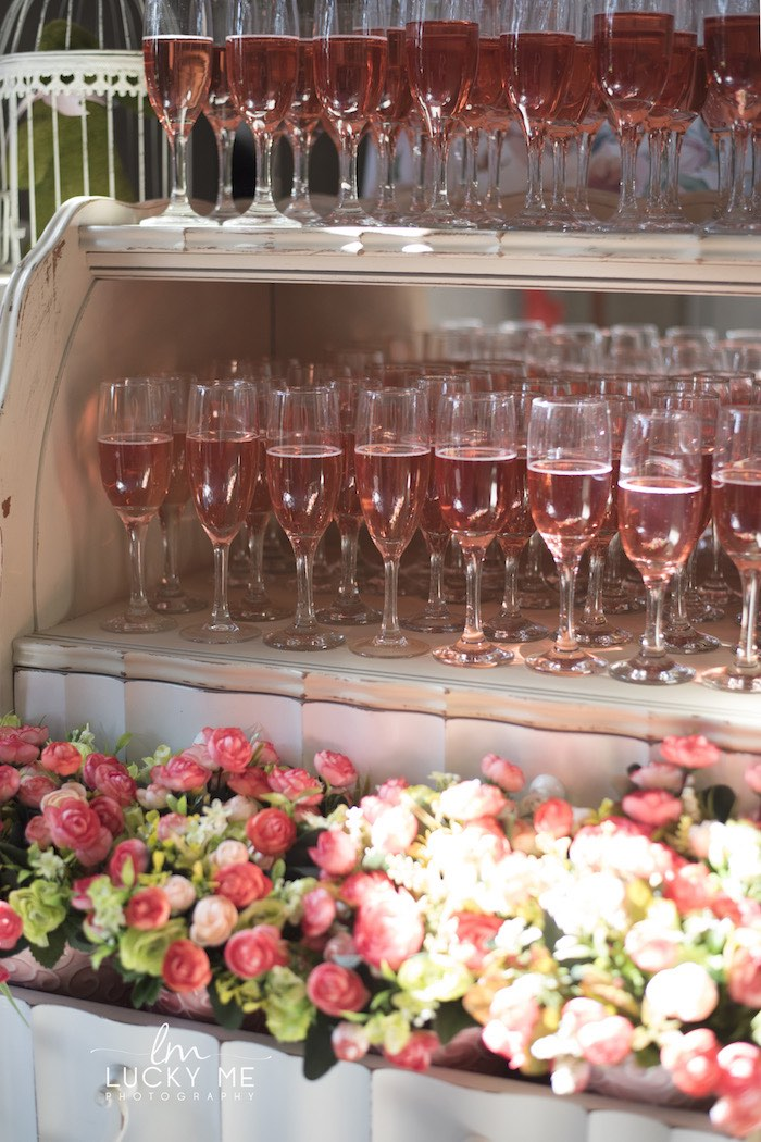 Garden Beverage Bar from a Vintage Bunny High Tea on Kara's Party Ideas | KarasPartyIdeas.com (42)