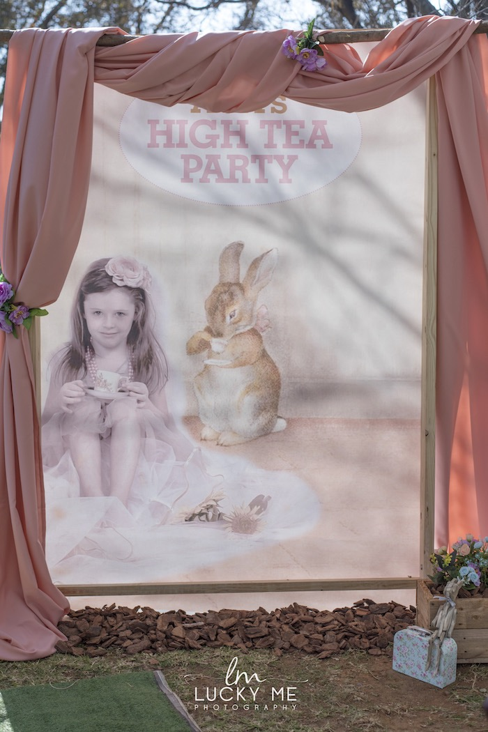 Custom High Tea Bunny Photo Booth from a Vintage Bunny High Tea on Kara's Party Ideas | KarasPartyIdeas.com (23)