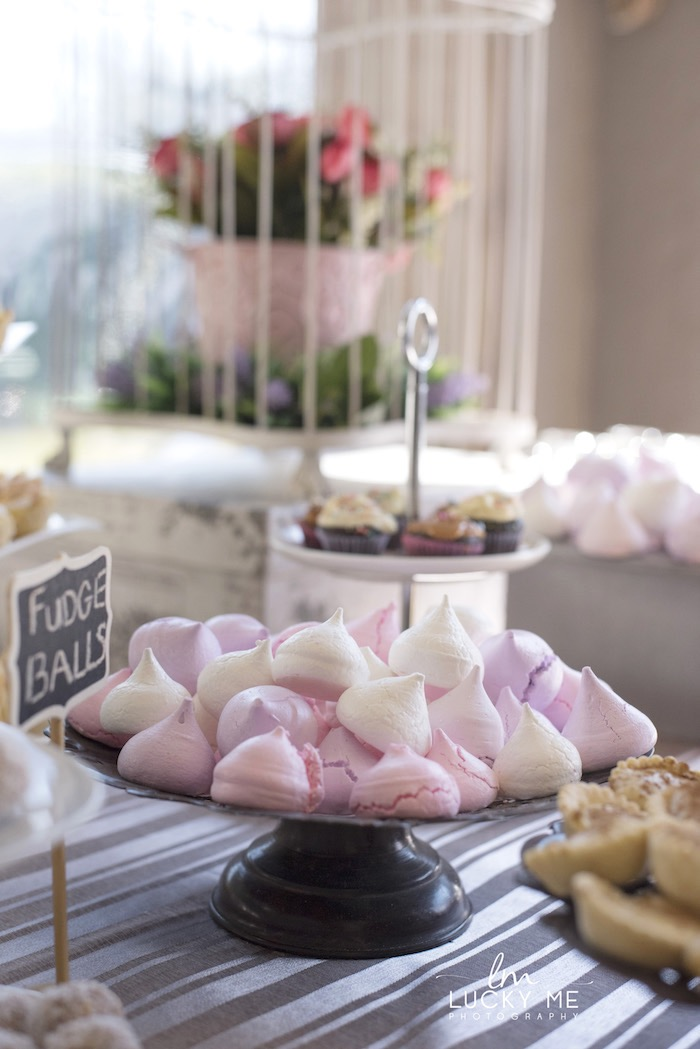 Meringue Kisses from a Vintage Bunny High Tea on Kara's Party Ideas | KarasPartyIdeas.com (14)