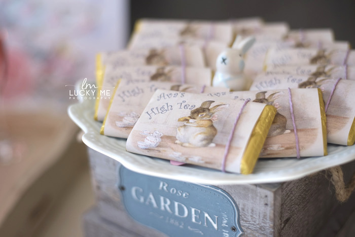 High Tea Bunny Bars from a Vintage Bunny High Tea on Kara's Party Ideas | KarasPartyIdeas.com (41)