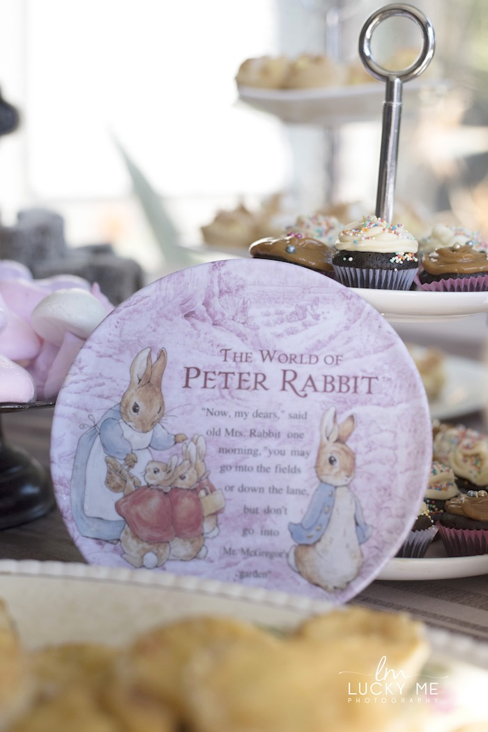 Peter Rabbit Signage from a Vintage Bunny High Tea on Kara's Party Ideas | KarasPartyIdeas.com (13)
