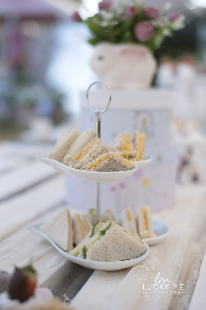 Sandwiches from a Vintage Bunny High Tea on Kara's Party Ideas | KarasPartyIdeas.com (35)