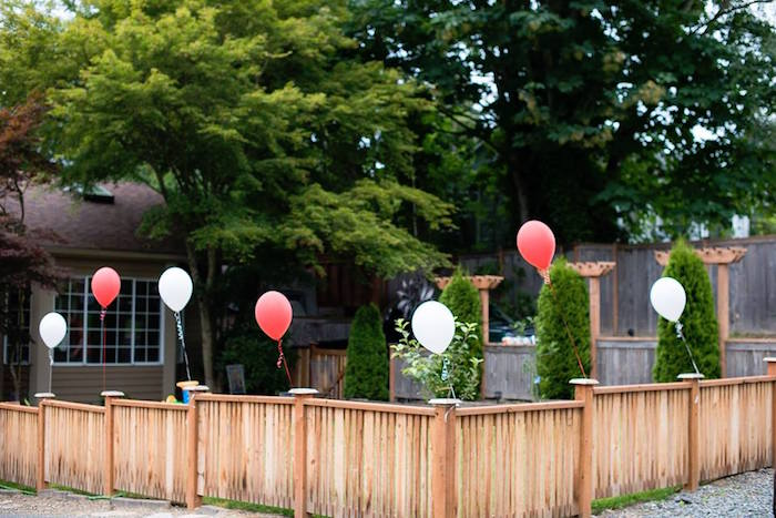 Red + White Balloons from a Vintage Circus Birthday Party on Kara's Party Ideas | KarasPartyIdeas.com (13)