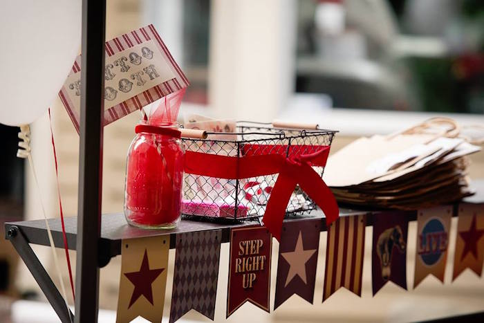 Tattoo Booth from a Vintage Circus Birthday Party on Kara's Party Ideas | KarasPartyIdeas.com (10)