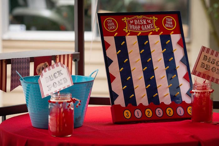 Duck Pond and Disc Drop Game from a Vintage Circus Birthday Party on Kara's Party Ideas | KarasPartyIdeas.com (9)
