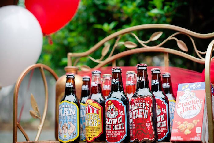 Vintage Soda Bottles from a Vintage Circus Birthday Party on Kara's Party Ideas | KarasPartyIdeas.com (3)
