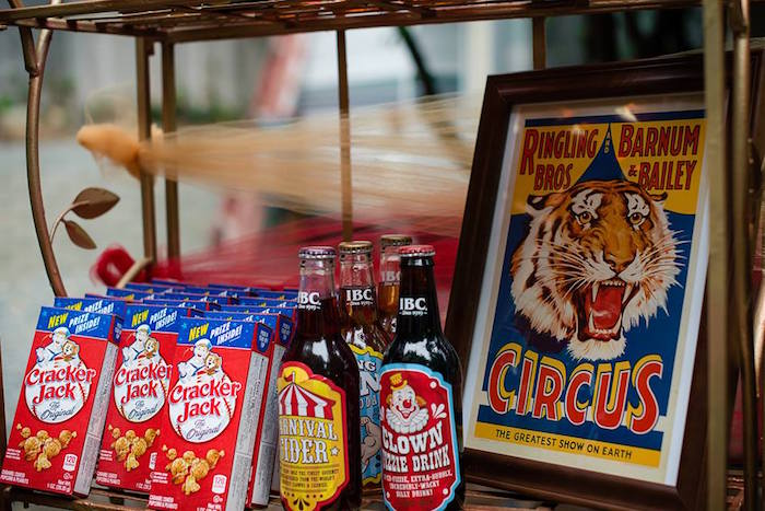 Cracker Jacks & Vintage Sodas from a Vintage Circus Birthday Party on Kara's Party Ideas | KarasPartyIdeas.com (18)