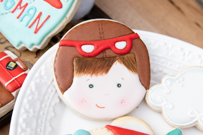 Aviator Cookie from a Vintage Modern Aviator Birthday Party on Kara's Party Ideas | KarasPartyIdeas.com (36)