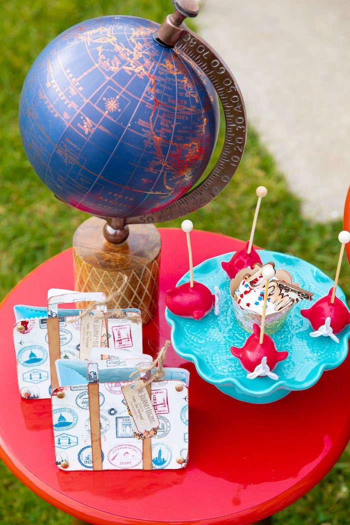 Airplane Oreos & Travel Bags from a Vintage Modern Aviator Birthday Party on Kara's Party Ideas | KarasPartyIdeas.com (29)