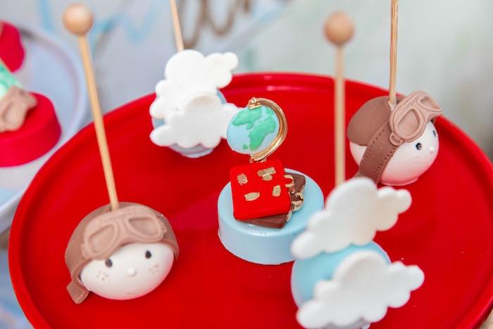 Aviator Cake Pops & Oreos from a Vintage Modern Aviator Birthday Party on Kara's Party Ideas | KarasPartyIdeas.com (24)
