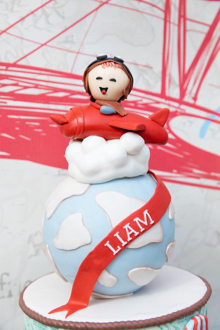 Aviator-inspired Cake Top from a Vintage Modern Aviator Birthday Party on Kara's Party Ideas | KarasPartyIdeas.com (23)