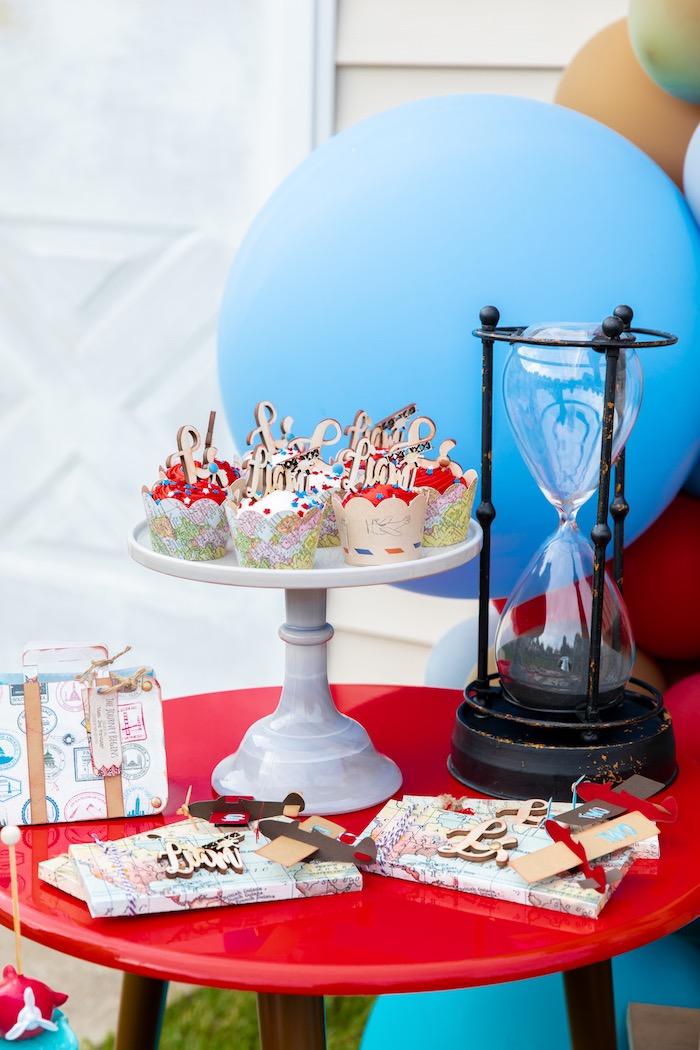 Sweet Table from a Vintage Modern Aviator Birthday Party on Kara's Party Ideas | KarasPartyIdeas.com (17)