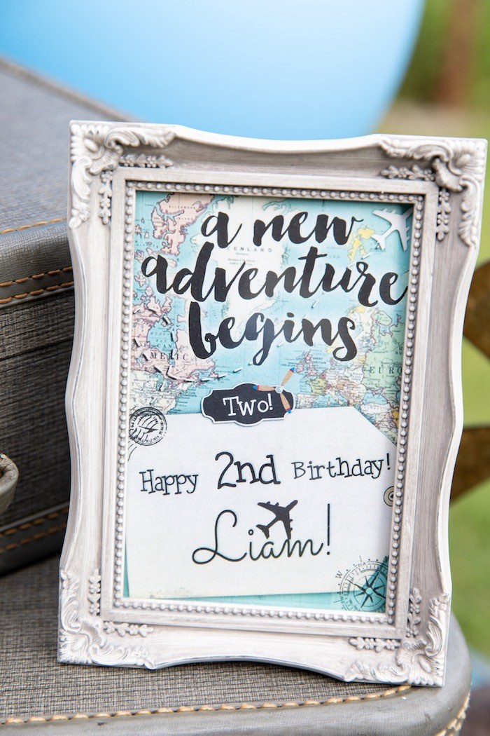 A New Adventure Begins Print + Signage from a Vintage Modern Aviator Birthday Party on Kara's Party Ideas | KarasPartyIdeas.com (39)