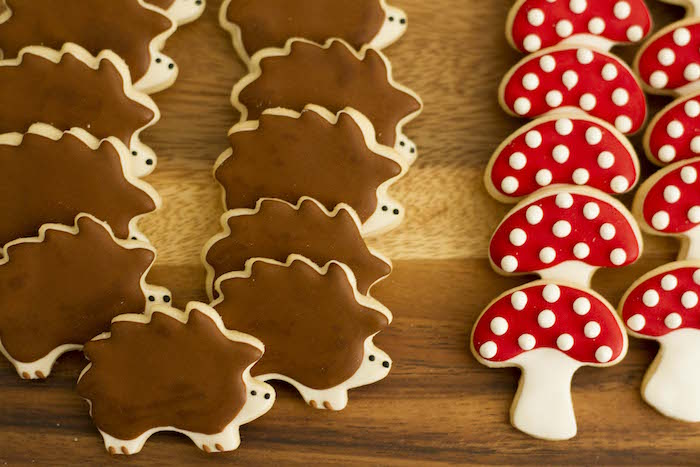 Woodland Cookies from a Vintage Woodland Baby Shower on Kara's Party Ideas | KarasPartyIdeas.com (19)