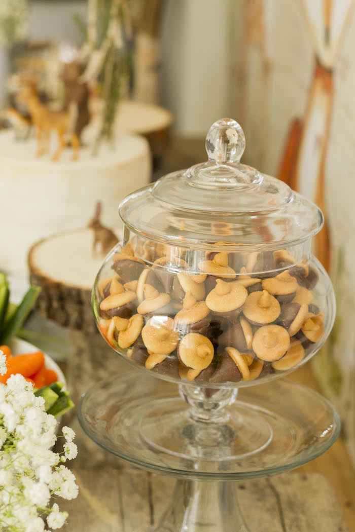 Acorn Cookie Kisses from a Vintage Woodland Baby Shower on Kara's Party Ideas | KarasPartyIdeas.com (18)