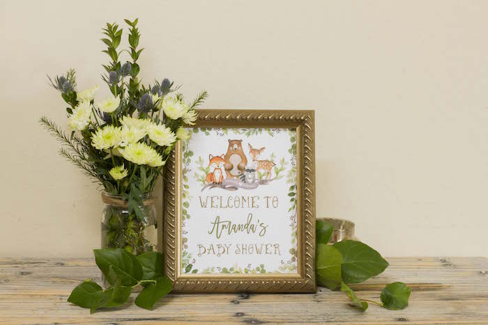 Woodland Welcome Print from a Vintage Woodland Baby Shower on Kara's Party Ideas | KarasPartyIdeas.com (27)