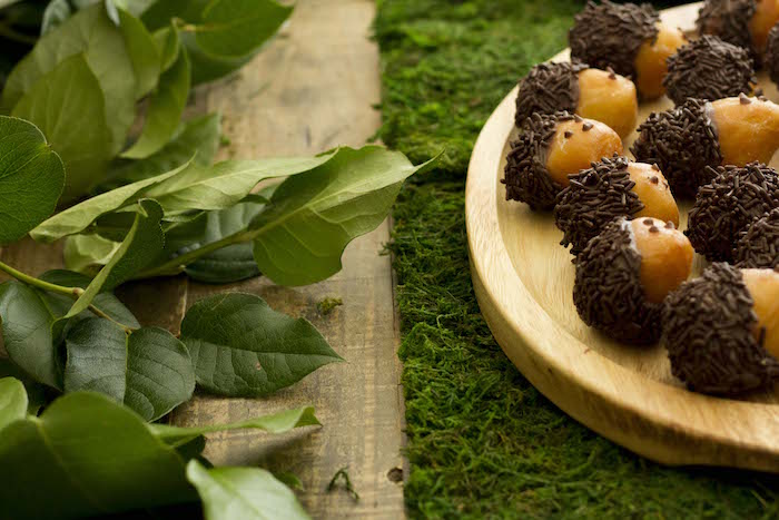 Acorn Doughnut Holes from a Vintage Woodland Baby Shower on Kara's Party Ideas | KarasPartyIdeas.com (24)