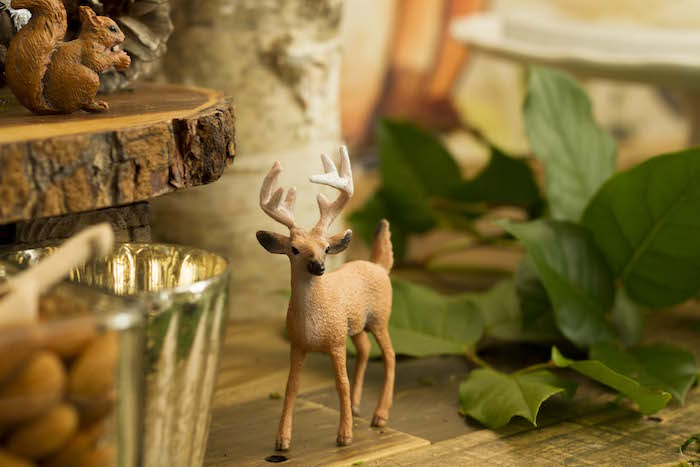 Deer Prop form a Vintage Woodland Baby Shower on Kara's Party Ideas | KarasPartyIdeas.com (23)