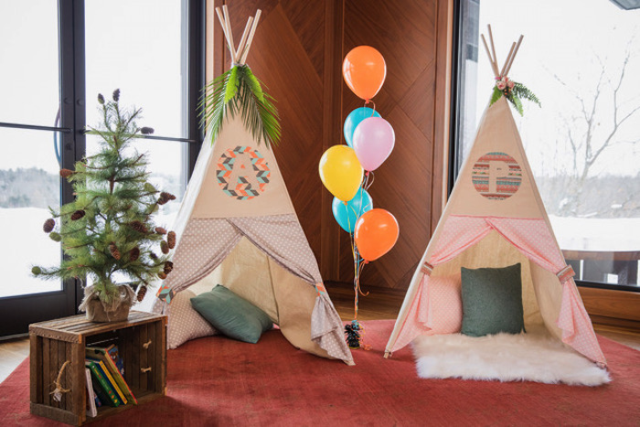 Custom Tee Pees from a Woodland Adventure Birthday Party on Kara's Party Ideas | KarasPartyIdeas.com (2)