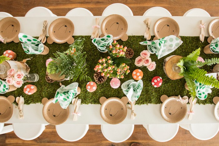 Woodland-inspired Kid Table from a Woodland Adventure Birthday Party on Kara's Party Ideas | KarasPartyIdeas.com (19)