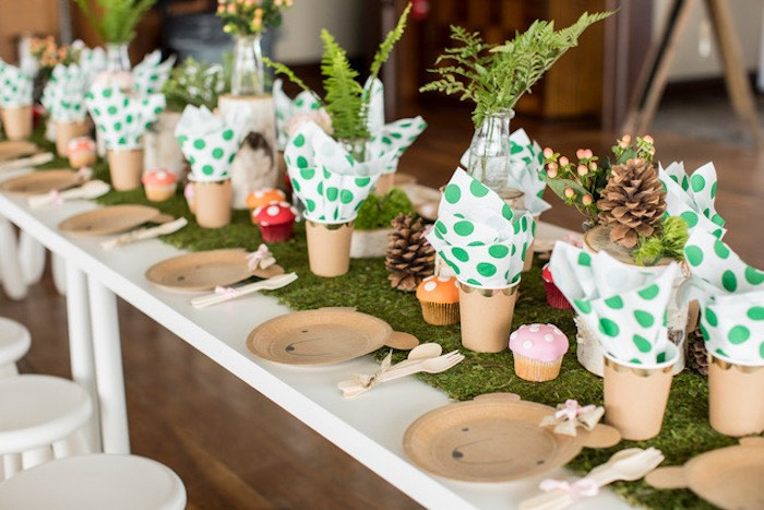 Woodland-inspired Kid Table from a Woodland Adventure Birthday Party on Kara's Party Ideas | KarasPartyIdeas.com (18)