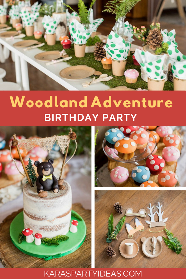 Woodland Adventure Birthday Party via Kara's Party Ideas - KarasPartyIdeas.com