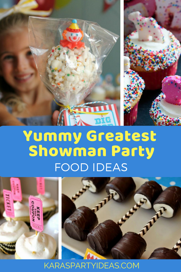 Yummy Greatest Showman Party Food Ideas via Kara_s Party Ideas - KarasPartyIdeas.com