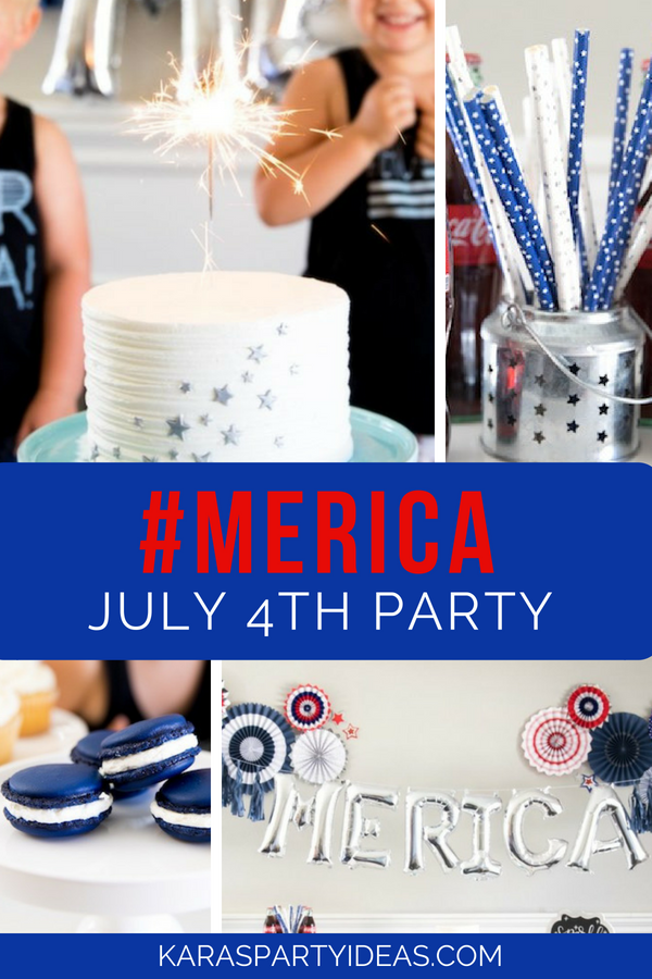 #merica July 4th Party via Kara_s Party Ideas - KarasPartyIdeas.com