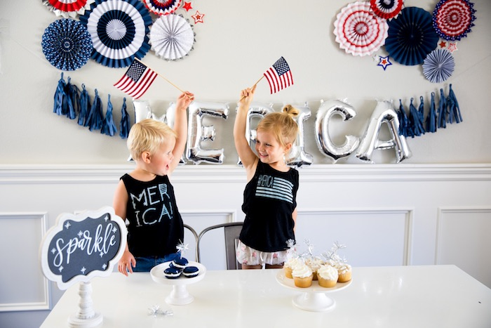 Flags - May they Ever Wave from a #merica July 4th Party via Kara's Party Ideas | KarasPartyIdeas.com (5)