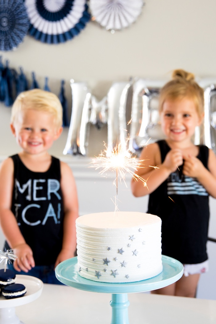 Firework Cake from a #merica July 4th Party via Kara's Party Ideas | KarasPartyIdeas.com (4)