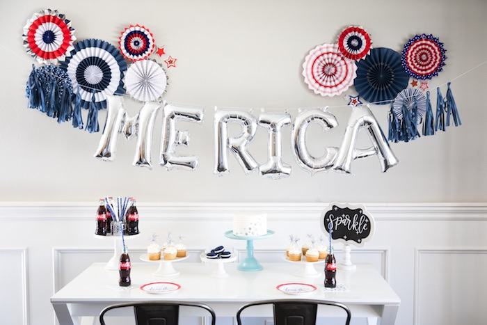 An American Dessert Table from a #merica July 4th Party via Kara's Party Ideas | KarasPartyIdeas.com (13)