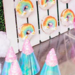 """Cloud Nine"" Rainbow 9th Birthday Party on Kara's Party Ideas 