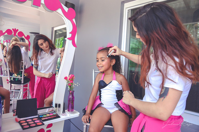 Fashion Runway Prep from a Barbie Fashionista Birthday Party on Kara's Party Ideas | KarasPartyIdeas.com (12)
