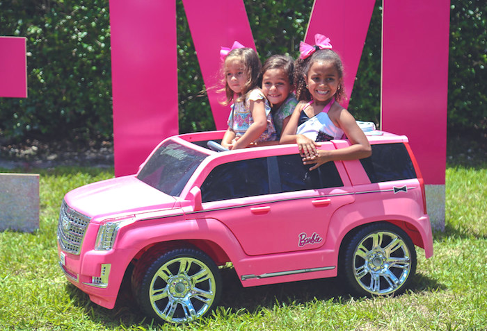 Barbie SUV from a Barbie Fashionista Birthday Party on Kara's Party Ideas | KarasPartyIdeas.com (11)