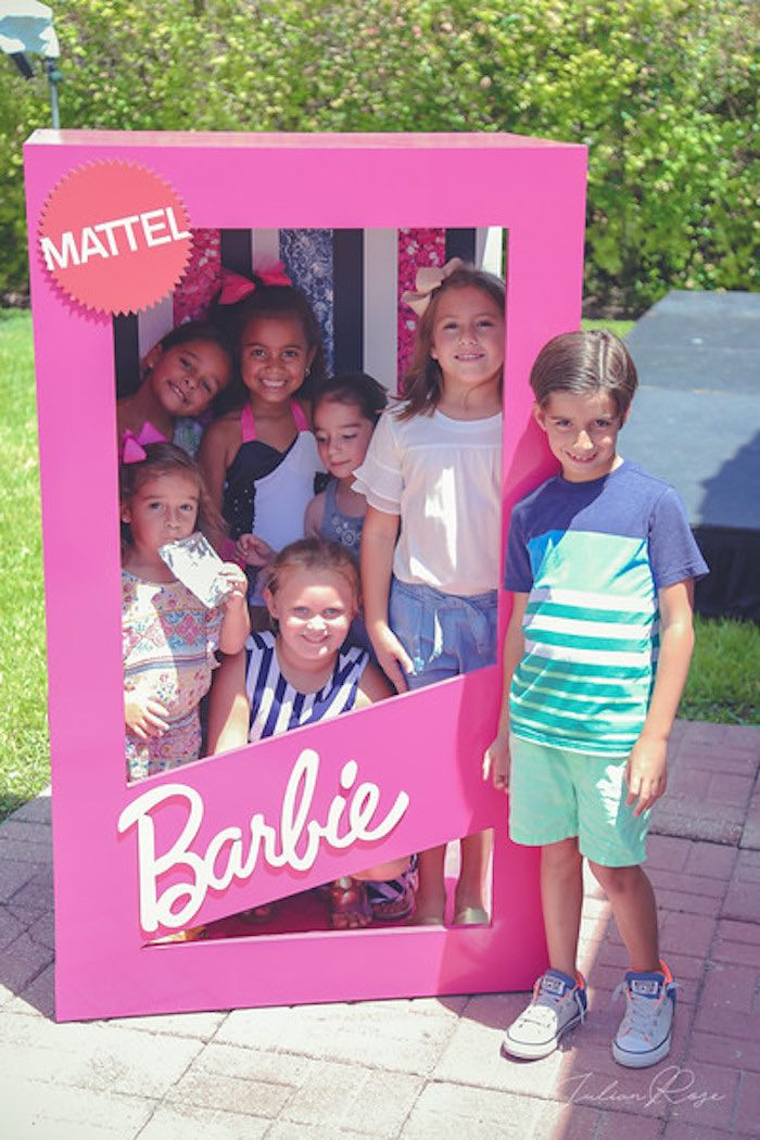 Barbie Box Photo Booth from a Barbie Fashionista Birthday Party on Kara's Party Ideas | KarasPartyIdeas.com (10)