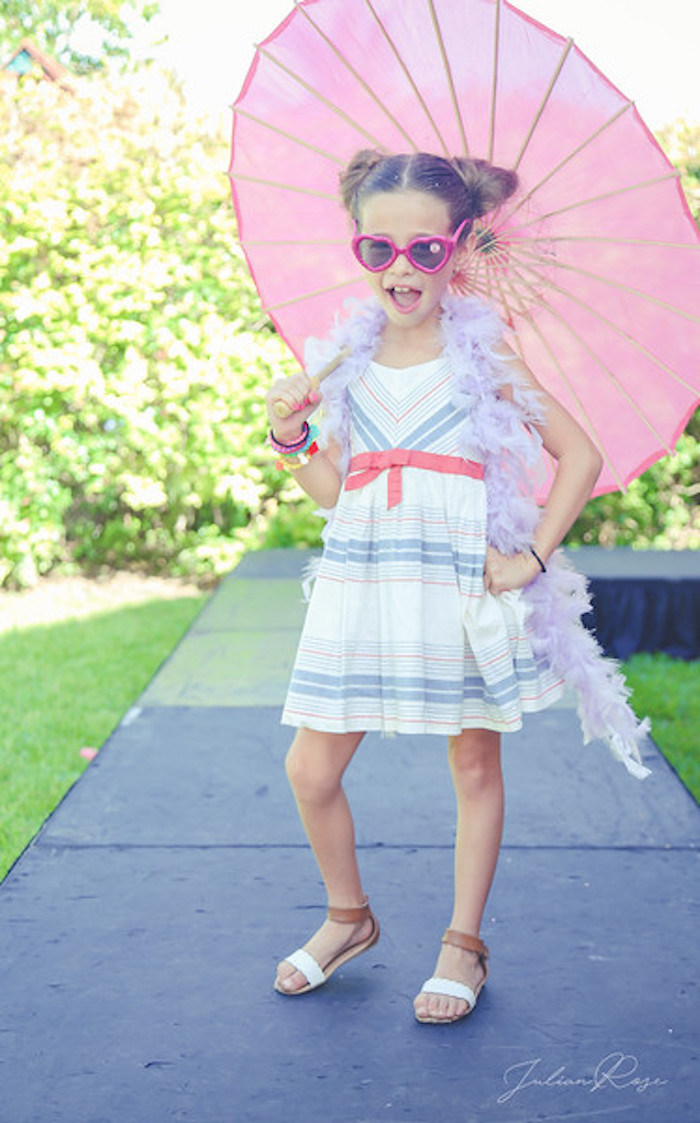 Fashion Runway from a Barbie Fashionista Birthday Party on Kara's Party Ideas | KarasPartyIdeas.com (7)