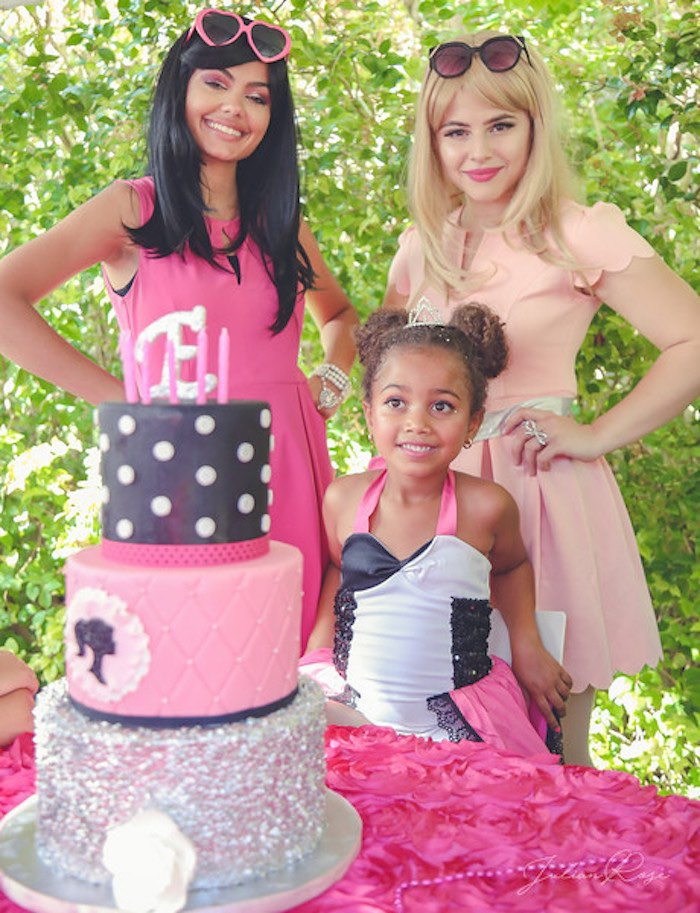 Barbie Cake from a Barbie Fashionista Birthday Party on Kara's Party Ideas | KarasPartyIdeas.com (4)