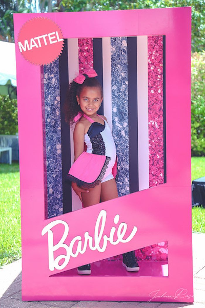 Barbie Box Photo Booth from a Barbie Fashionista Birthday Party on Kara's Party Ideas | KarasPartyIdeas.com (16)