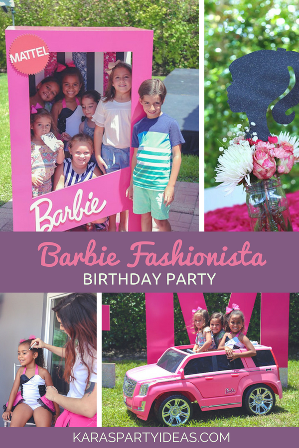 Barbie Fashionista Birthday Party via Kara's Party Ideas - KarasPartyIdeas.com