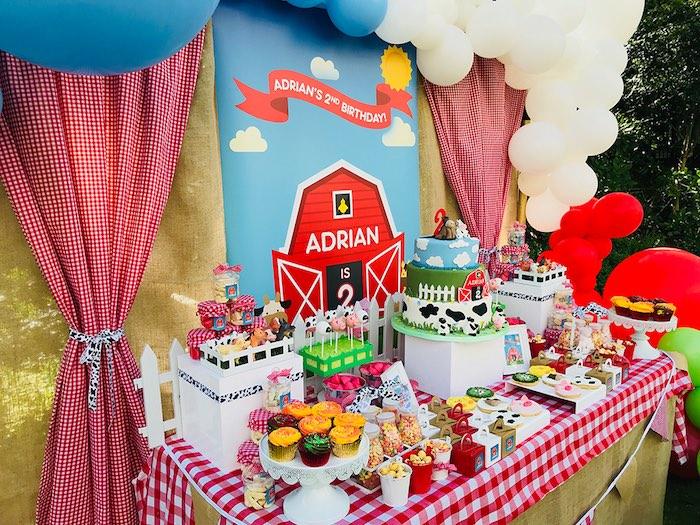 Kara S Party Ideas Barnyard Farm Birthday Party Kara S