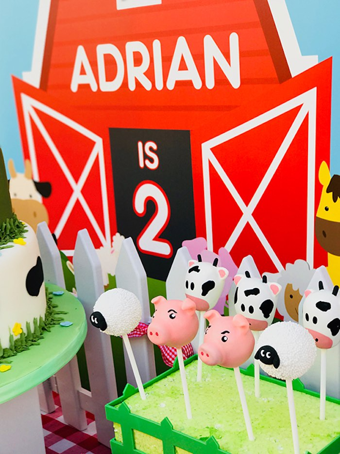 Farm Animal Cake Pops from a Barnyard Farm Birthday Party on Kara's Party Ideas | KarasPartyIdeas.com (7)