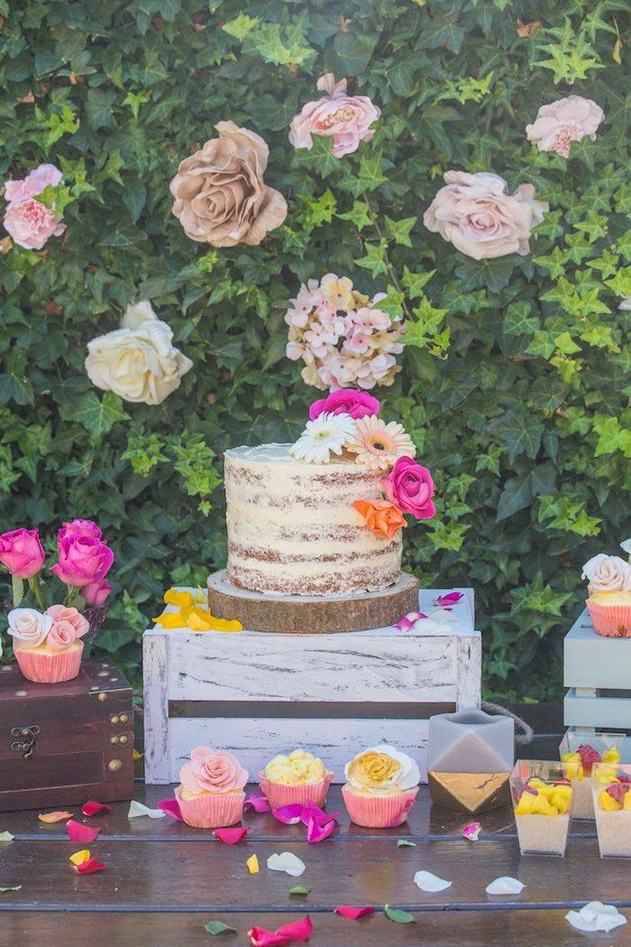 Boho Cakescape from a Bohemian Baby Shower on Kara's Party Ideas | KarasPartyIdeas.com (9)