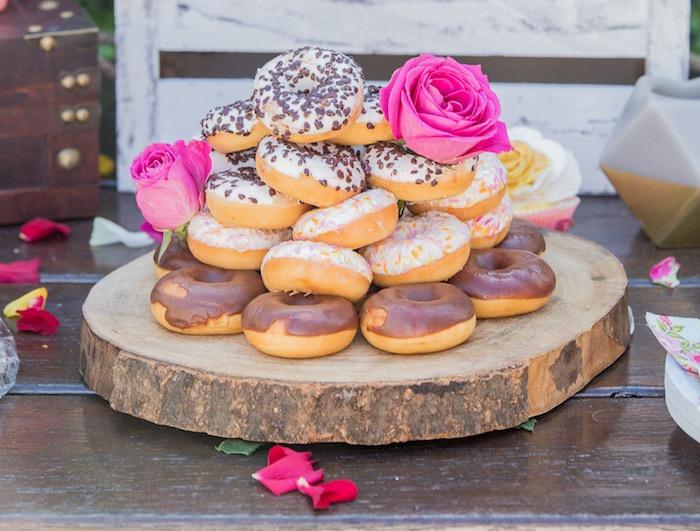 Boho Donuts from a Bohemian Baby Shower on Kara's Party Ideas | KarasPartyIdeas.com (7)