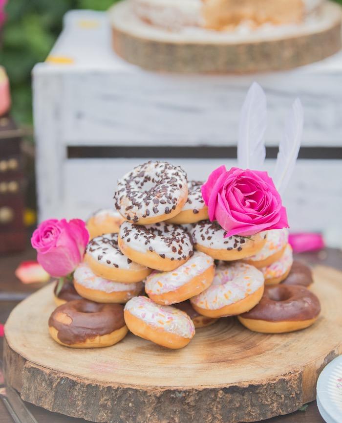 Boho Donuts from a Bohemian Baby Shower on Kara's Party Ideas | KarasPartyIdeas.com (4)