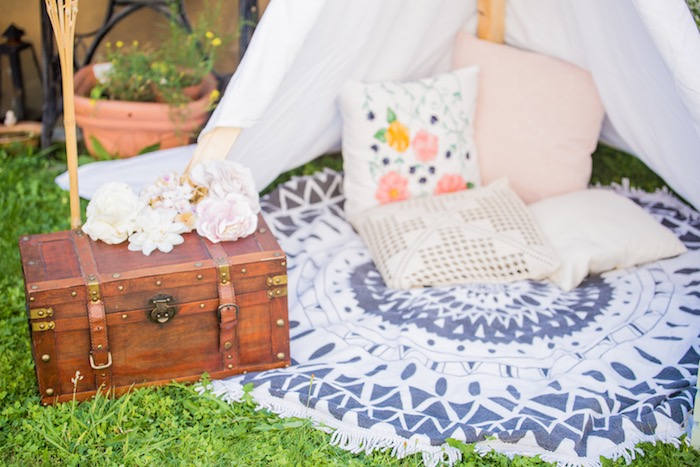 Boho Tent Lounge from a Bohemian Baby Shower on Kara's Party Ideas | KarasPartyIdeas.com (20)
