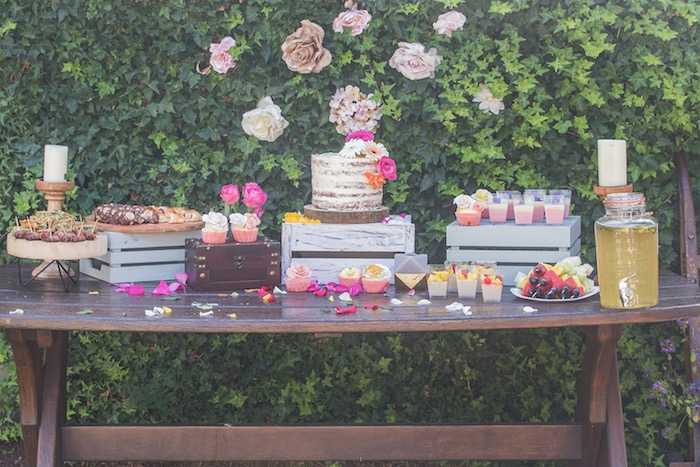 Beautiful Boho Dessert Table from a Bohemian Baby Shower on Kara's Party Ideas | KarasPartyIdeas.com (14)