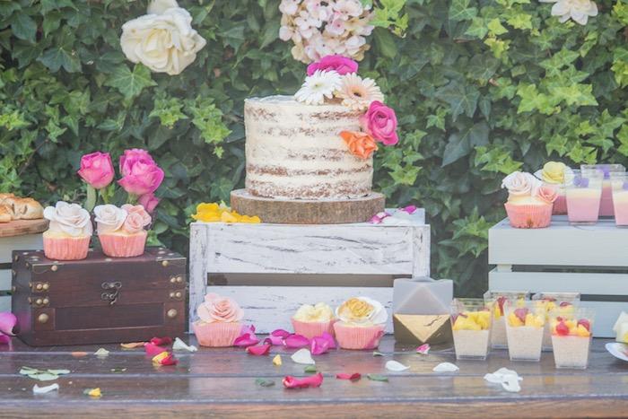 Boho Cake Table from a Bohemian Baby Shower on Kara's Party Ideas | KarasPartyIdeas.com (13)