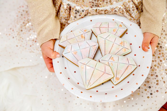 "Gem Cookies from a Boho Princess ""You're a Gem"" Birthday Party on Kara's Party Ideas 
