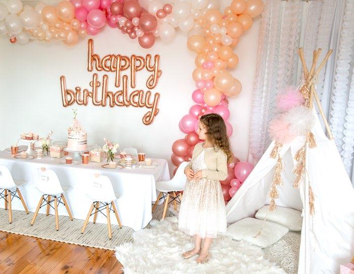 "Boho Princess ""You're a Gem"" Birthday Party Spread on Kara's Party Ideas | KarasPartyIdeas.com (5)"