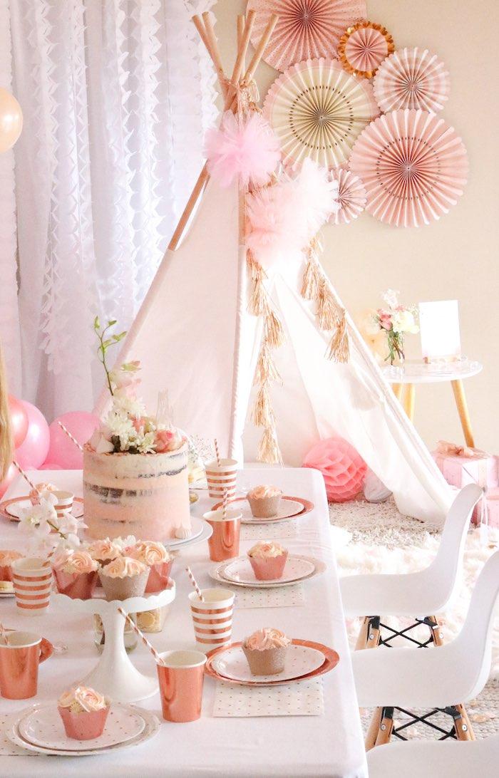 "Boho Princess ""You're a Gem"" Birthday Party on Kara's Party Ideas   KarasPartyIdeas.com (21)"